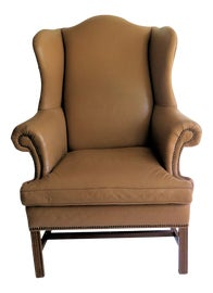Image of Beige Wingback Chairs