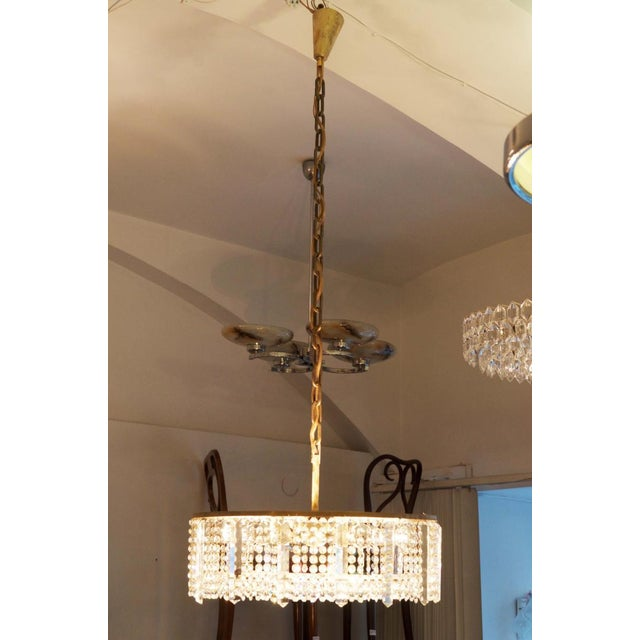 Austrian chandelier made of cut metal by Bakalowits & Söhne For Sale - Image 11 of 11