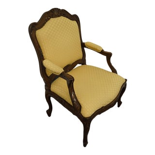 Sherrill Furniture French Provincial Upholstered Accent Arm Chair For Sale