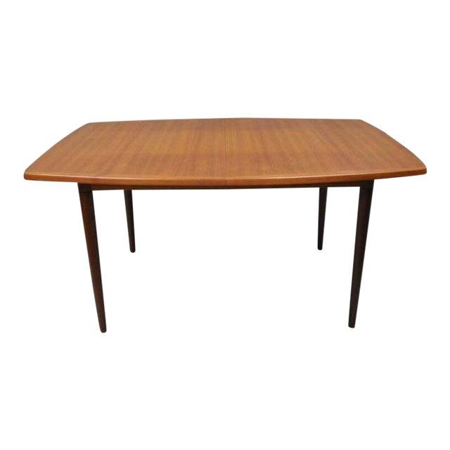 Gustav Bahus Norway Mid Century Danish Modern Teak Dining Table With 2  Leaves