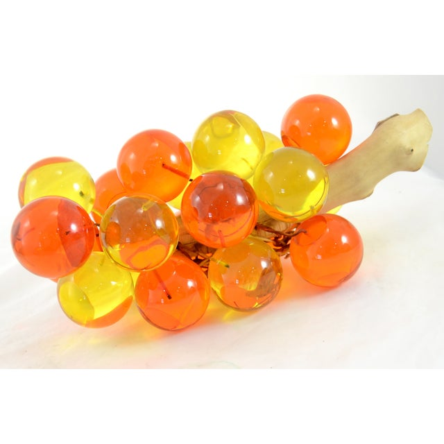 1960s Orange & Yellow Lucite Grapes - Image 2 of 7