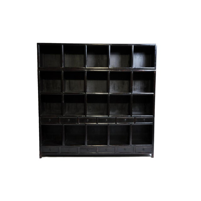 Impressive Chinese Display Cabinet With Twelve Drawers For Sale - Image 13 of 13