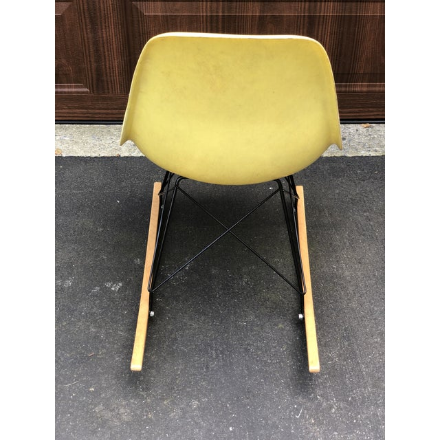 Mid 20th Century Mid Century Eames Armless Shell Rocker For Sale - Image 5 of 10