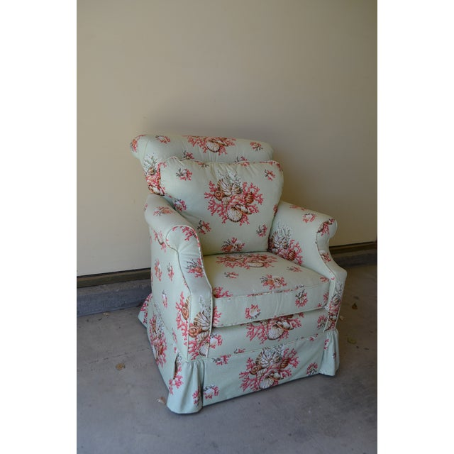 Scalamandre Chintz Upholstered Club Chair - Image 3 of 6