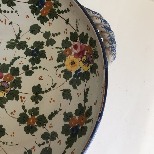 Vintage Rustic Tuscan Pottery Bowl For Sale - Image 11 of 12