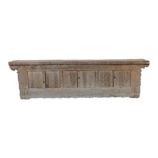 Antique Tibetan 6-Door Wooden Buffet For Sale