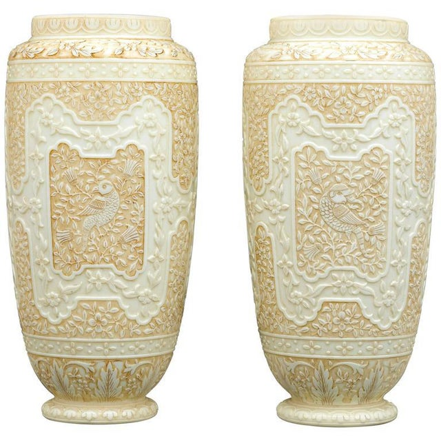 White Cameo Glass Vases by Webb For Sale - Image 8 of 8