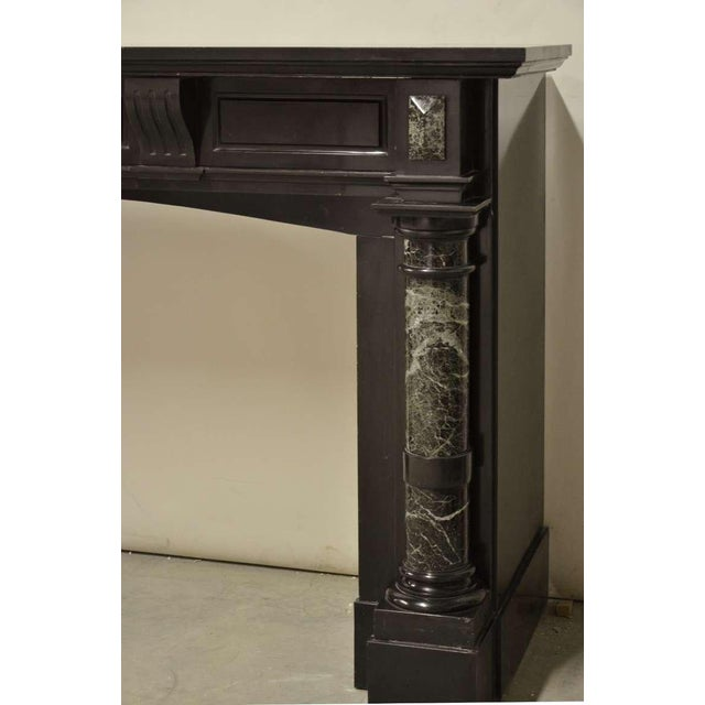 Late 19th Century, Dutch Black Marble Fireplace with Green Marble Pillars For Sale - Image 5 of 6