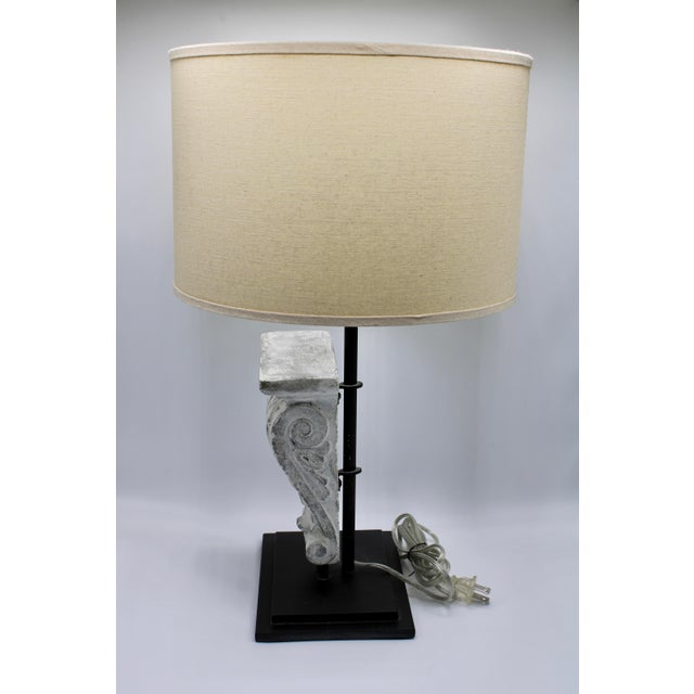 Architectural Restoration Hardware Style Corbel Lamp For Sale - Image 10 of 13