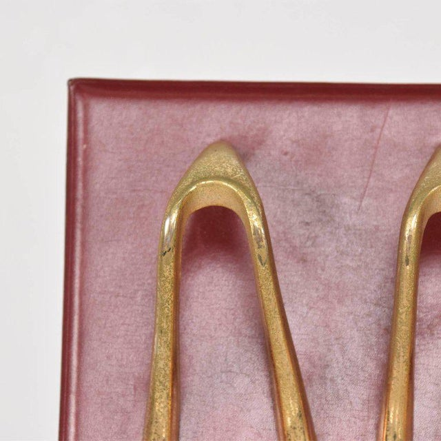 Mid-Century Modern Mid-Century Leather and Brass Pipe Holder, France, 1960s For Sale - Image 3 of 6