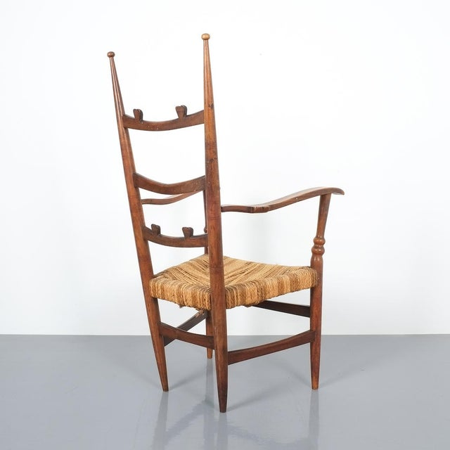 Marelli & Colico Armchair Attributed to Paolo Buffa, Possible Made by Marelli, Circa 1948 For Sale - Image 4 of 13