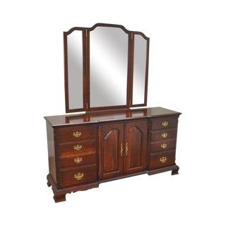 Pennsylvania House Traditional Cherry Dresser w/ Tri Fold Mirror