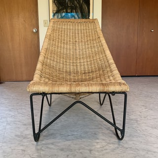 Mid-Century Modern John Risley Style Iron and Wicker Chair Preview