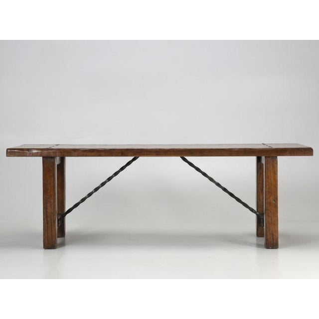 French Farm Table With Matching Benches - 3 Pc. Set For Sale - Image 9 of 13