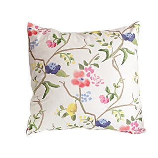 Boho Chic Dana Gibson Sissinghurst Cotton Pillow For Sale