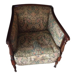 1940s American Classical Tapestry Arm Chair