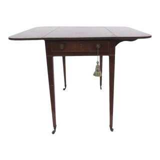 English Mahogany Pembroke Table Drop Leaf For Sale