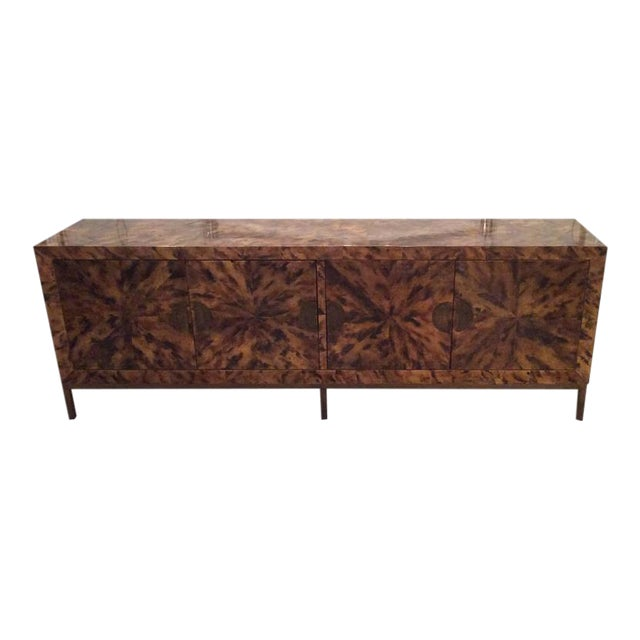 Mid-Century Modern Brass Tortoise Shell Sideboard For Sale - Image 12 of 12