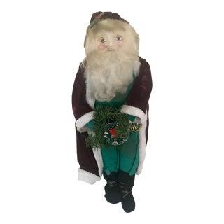 Vintage Handmade Santa for Holidays For Sale