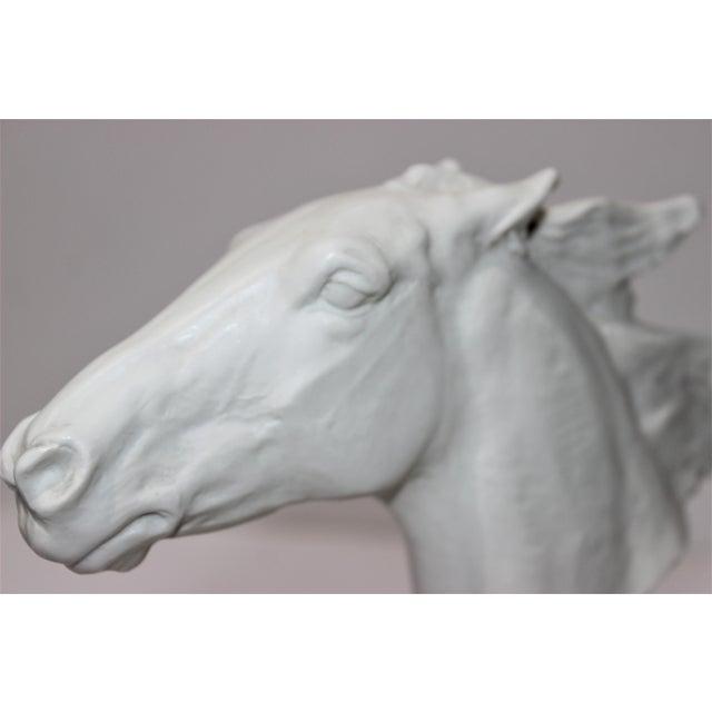 Realism Vintage 1930s-1940s Horse Sculpture White Porcelain For Sale - Image 3 of 13