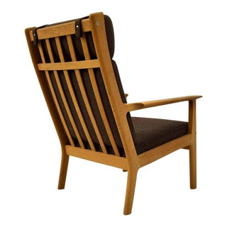 Hans Wegner GE-265 High Back Lounge Chair For Sale