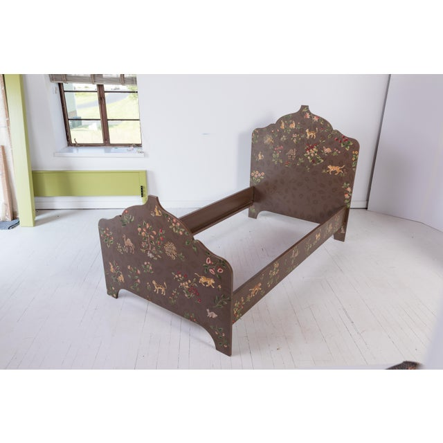 Folk Art Custom-Painted Twin Beds - a Pair For Sale - Image 10 of 13