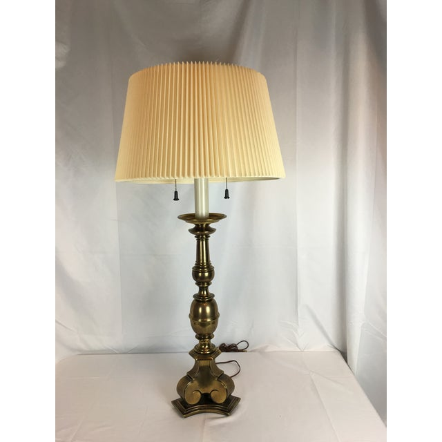 Vintage Stiffel Lamps >> Vintage Stiffel Antiqued Brass Table Lamp Chairish