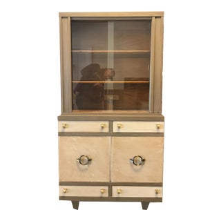 Mid Century Modern Painted China Cabinet / Hutch For Sale
