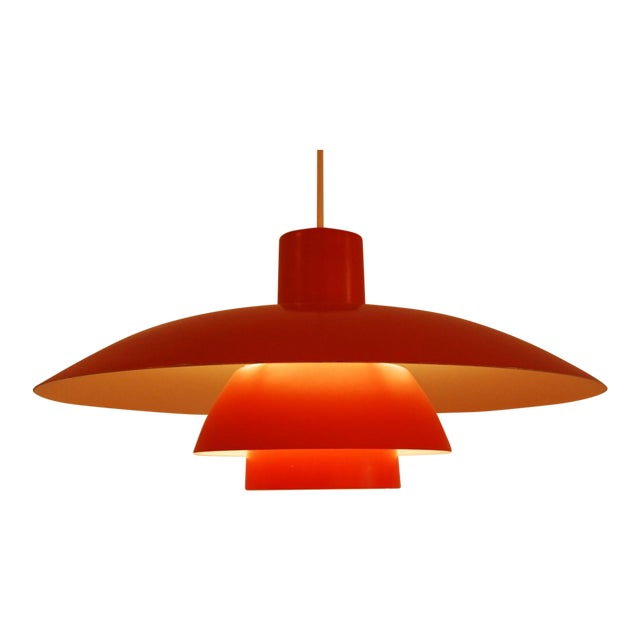 Orange PH 4/3 hanging lamp by Poul Henningsen for Louis Poulsen For Sale