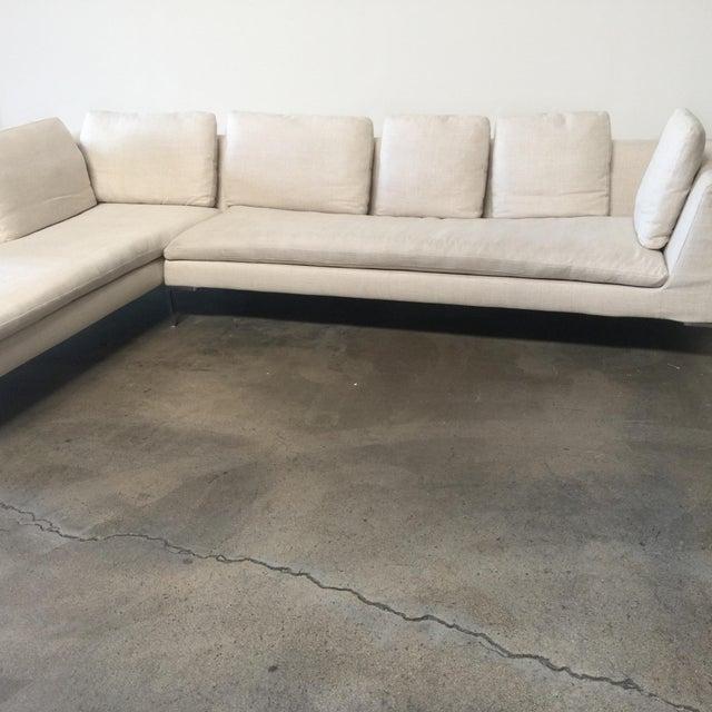 Contemporary Antonio Citterio B&B Italia 'Charles' Sofa For Sale - Image 3 of 9