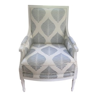 Blue and White Armchair by Highland House