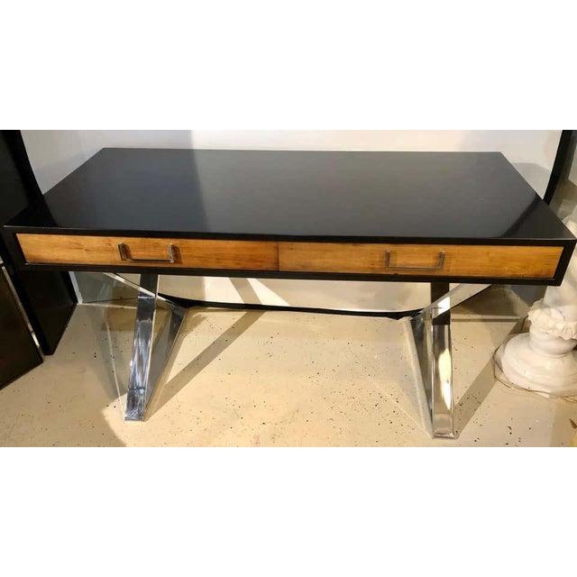 Mid-Century Modern Mid-Century Modern Milo Baughman Vanity Desk For Sale - Image 3 of 13