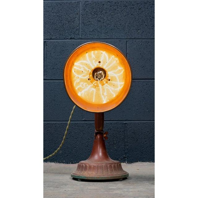 Copper Antique 1920s Infralite Desk Lamp For Sale - Image 8 of 10