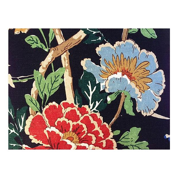 Chinoiserie Floral & Bird Pillows - Pair - Image 4 of 6