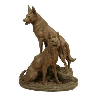 German Shepherd Dog Sculpture by Louis-Albert Carvin For Sale