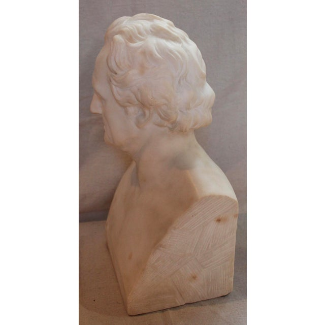 Late 19th Century Johann Wolfgang Von Goethe Marble Bust Statue For Sale - Image 5 of 10