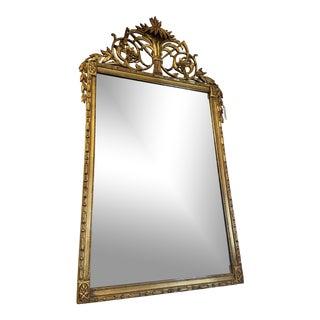 Vintage Hollywood Regency Gilt Accent Mirror For Sale