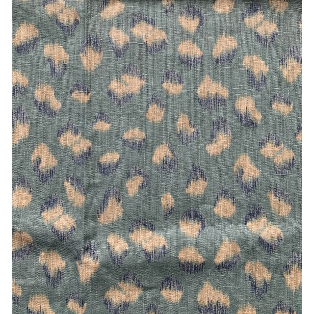 1 Yard Groundworks Feline Linen Fabric For Sale In New York - Image 6 of 8