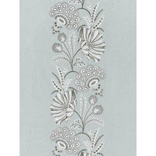 Sample, Scalamandre Annelise Embroidery, Skylight Fabric For Sale