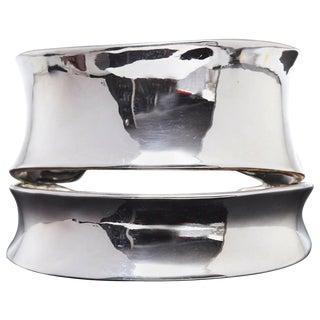 Robert Lee Morris Sculptural Silver Cuff For Sale