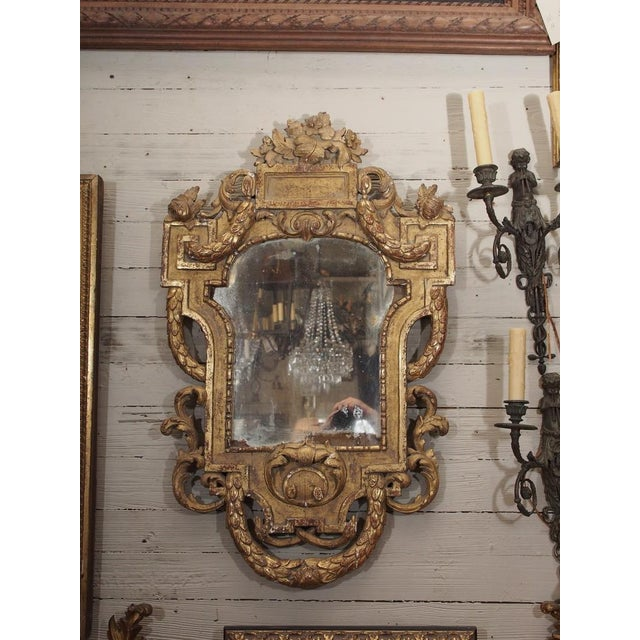 19th Century Italian Carved Giltwood Mirror - Image 2 of 7