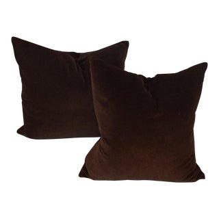 Room & Board Velvet Pillows - A Pair For Sale