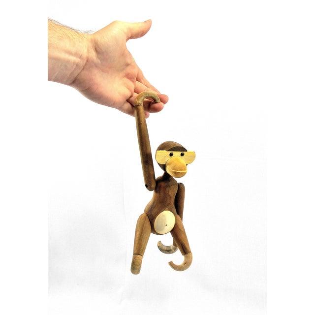 Vintage Carved Wooden Hanging Monkey - Image 2 of 10