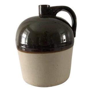 Antique Stoneware Whiskey Jug For Sale