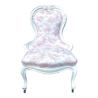 Early 20th Century Antique Victorian Parlor Chair For Sale