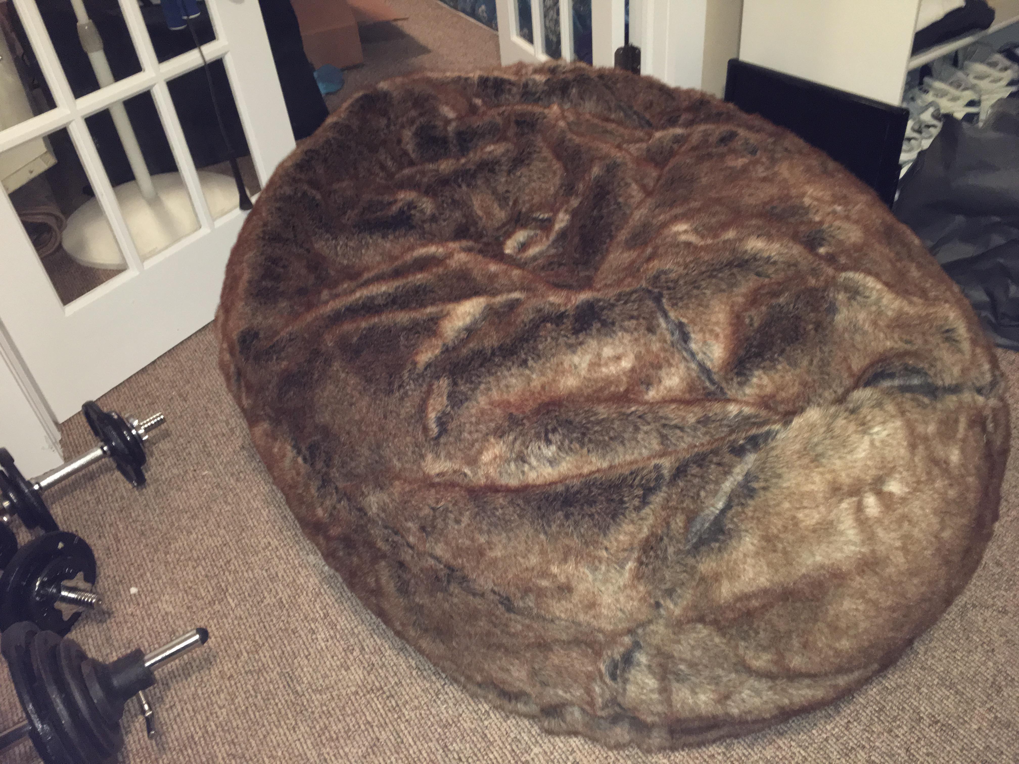 Restoration Hardware Tibetan Wool Bean Bag Chair   Image 3 Of 4