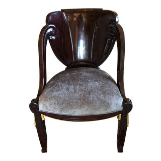 1920s Vintage Sue Et Mare David Weill Art Deco Side Chair For Sale