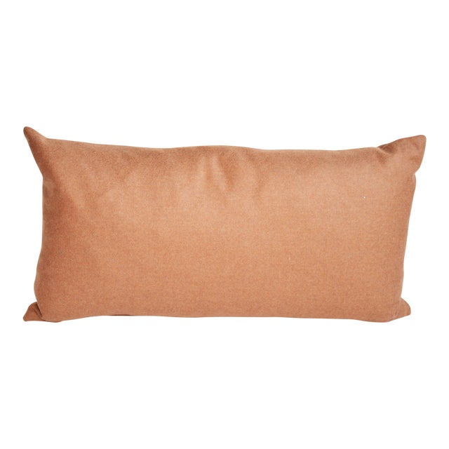 Rust Wool Kidney Pillow For Sale