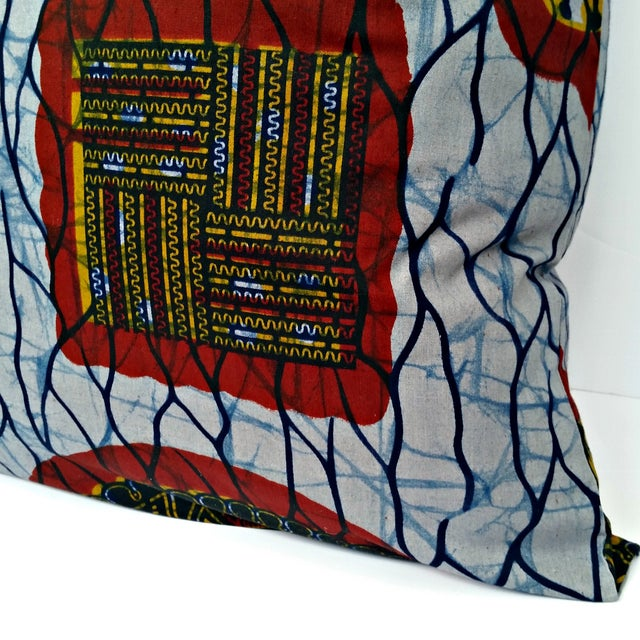 XL African Wax Print Fabric Pillow - Image 3 of 4