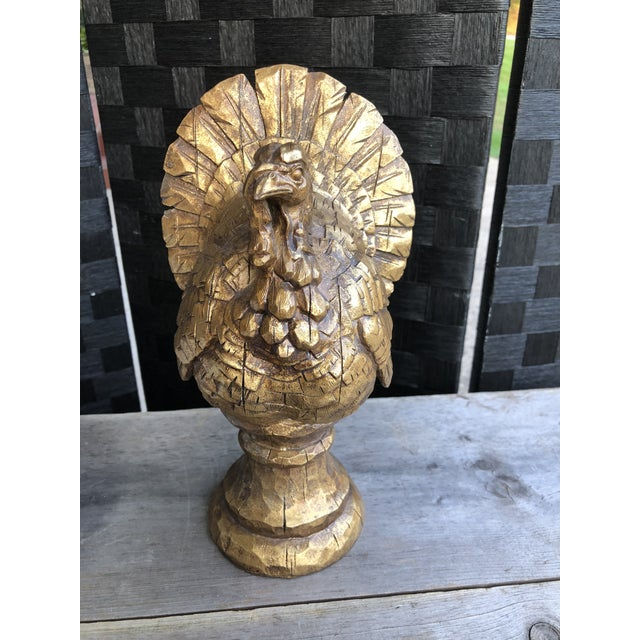 This beautiful Turkey seems to be boasting it's gorgeous gold feathers as it perched on a table or desk! Perfect for a...